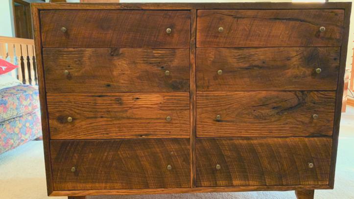 A reclaimed oak dresser